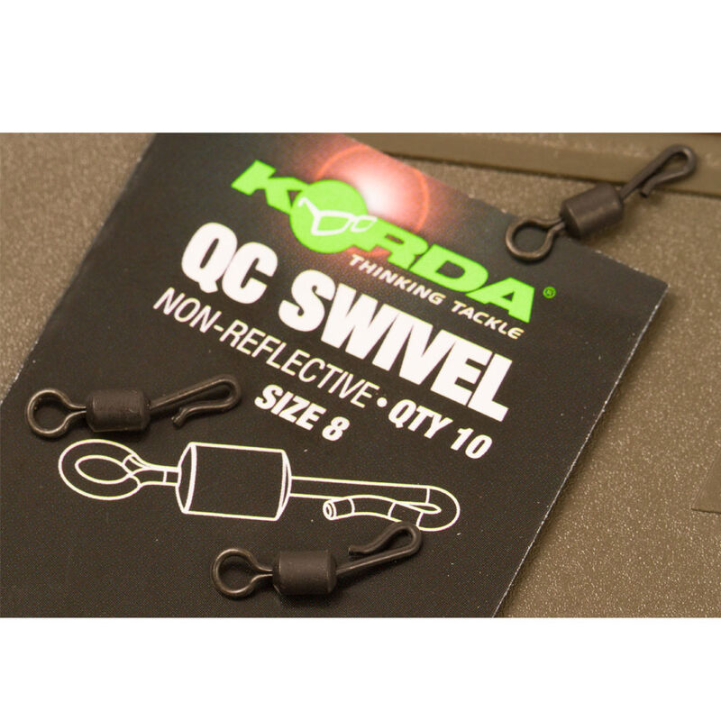 Emerillons carpe korda kwick change swivel (x10) - Emerillons | Pacific Pêche