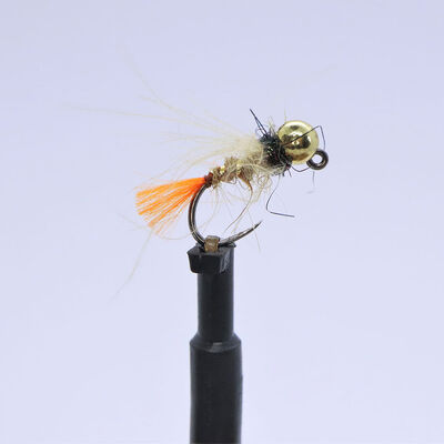 Kit 3 nymphes jigs tag rouge h12 bille or tung 3,8 mm - Nymphes | Pacific Pêche