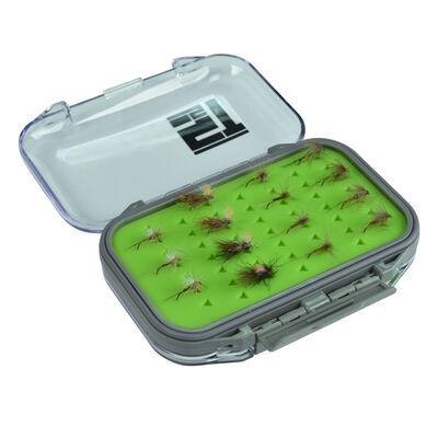 Boîte à mouche silverstone waterpro rubber twin/mini (capacité 98 mouches) - Boîtes Mouches | Pacific Pêche