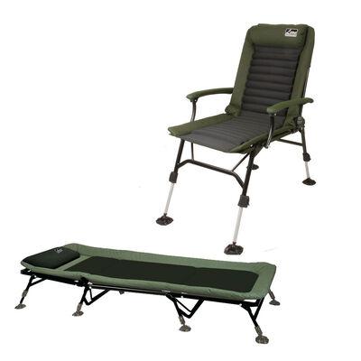 Pack master carp leon hoogendijk bedchair et level chair - Packs | Pacific Pêche
