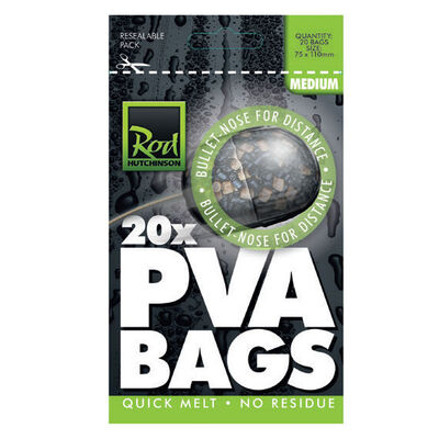 Sac soluble carpe rod hutchinson pva bags medium (10 x 20) - Sacs | Pacific Pêche