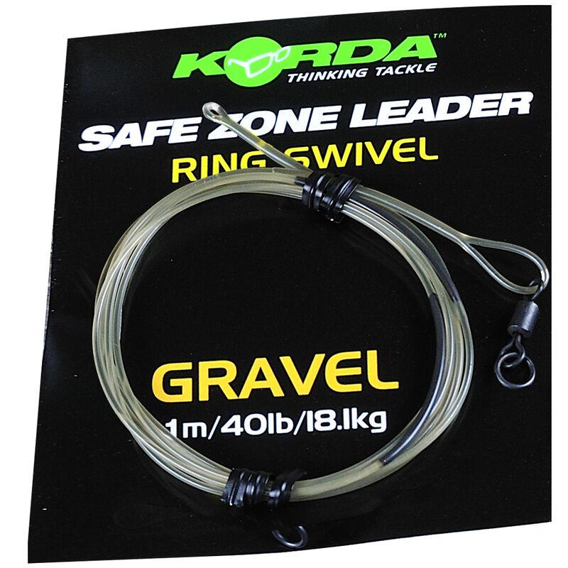 Tête de ligne carpe korda safe zone leader ring swivel 40lb 18.1kg - Kit Montage Complet | Pacific Pêche