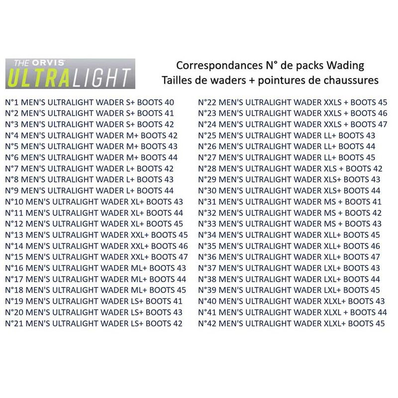 Pack orvis men's ultralight wader convertible + boots vibram - Packs | Pacific Pêche