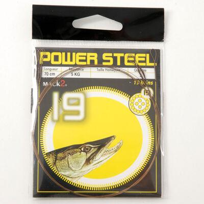 Bas de ligne acier carnassier x-line power steel 19 brins 70cm (x3) - Bas de ligne montés | Pacific Pêche