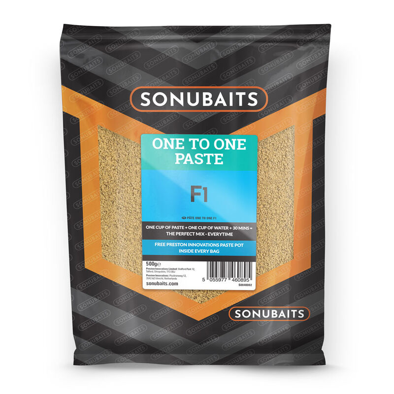 Pâte d'eschage coup sonubaits one to one paste f1 500g - Eschage | Pacific Pêche