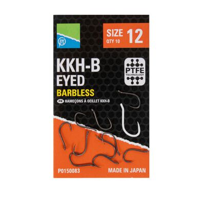 Pochette de 10 hameçons preston kkh-b sans ardillon eyed barbless - Hameçons / bas de ligne feeder   Pacific Pêche