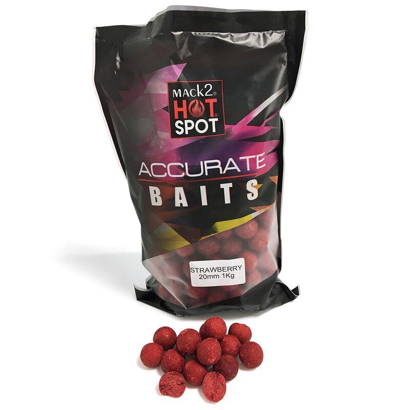 Bouillettes carpe mack2 accurate boilies strawberry 20mm 1kg - Denses | Pacific Pêche