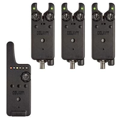 Pack 3 détecteurs carpe delkim txi-d + centrale rx-d (vert) - Packs | Pacific Pêche