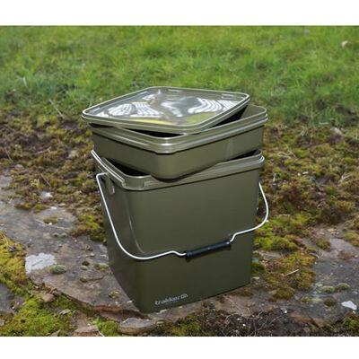 Seau carpe trakker olive square bucket - Seaux | Pacific Pêche