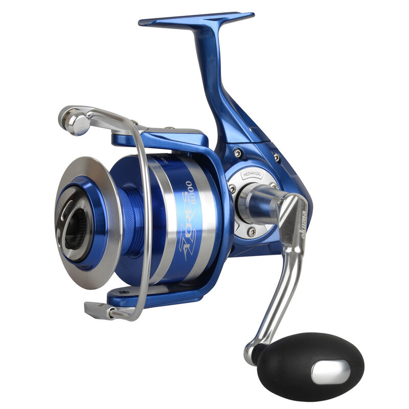 Moulinet spinning okuma azores blue 8000 fd - Tambour Fixe | Pacific Pêche