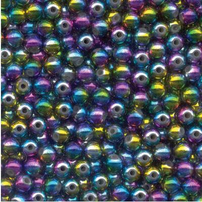 Perles rondes arc en ciel flashmer - Perles | Pacific Pêche
