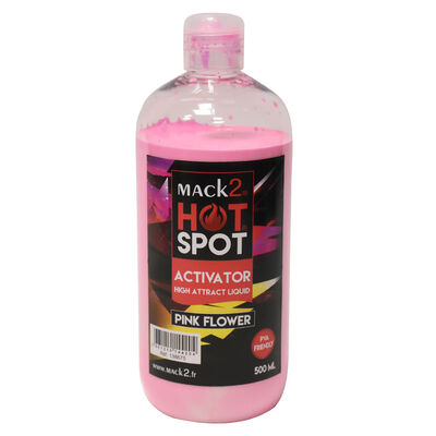 Booster carpe mack2 activator hot spot pink flower 500ml - Boosters / dips   Pacific Pêche