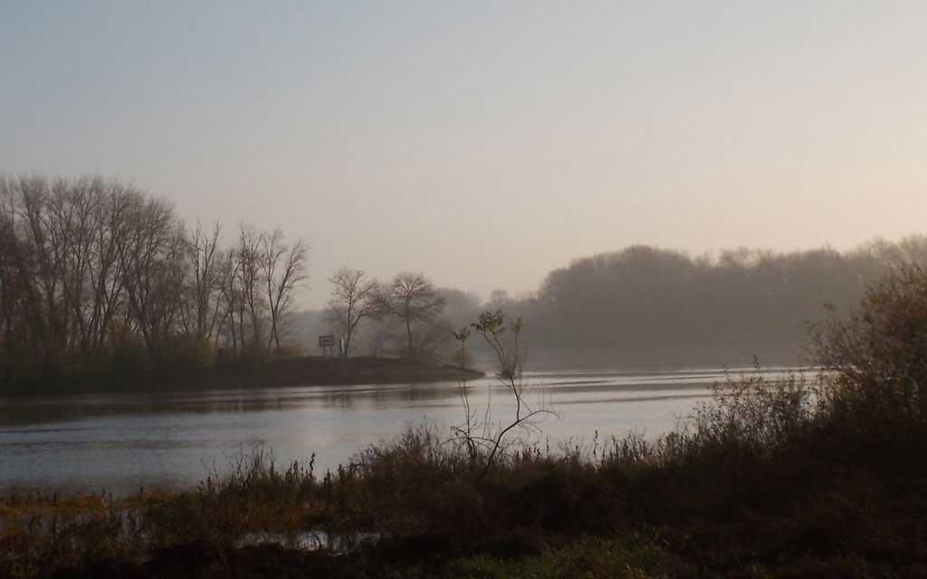 Jonction Loire Maine à Bouchemaine, lieu dit la Pointe
