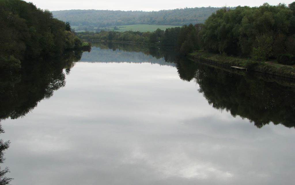 La Moselle canalisée Maron et Chaligny