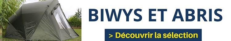 Découvrir la sélection Biwys et parapluie spécialement pour la pêche à la carpe I Pacific Pêche